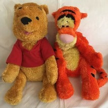 "2002 Fisher Price Winnie The Pooh & Tigger (Plush) Shiny Chenille Euc 18"" - $19.79"