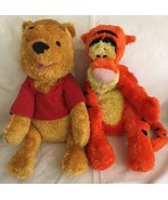 "2002 FISHER PRICE WINNIE THE POOH & TIGGER (PLUSH) SHINY CHENILLE EUC 18"" - $19.99"