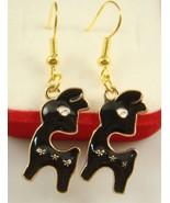 BLACK LLAMA EARRINGS    >> COMBINED SHIPPING <<   (10950) - $3.75