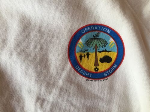 Sweatshirt Operation Desert Storm Americans United For World Peace XL 46-48 New