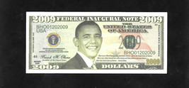 USA FANTASY NOTE - OBAMA DOLLARS - 2009 - with certificate - $14.55