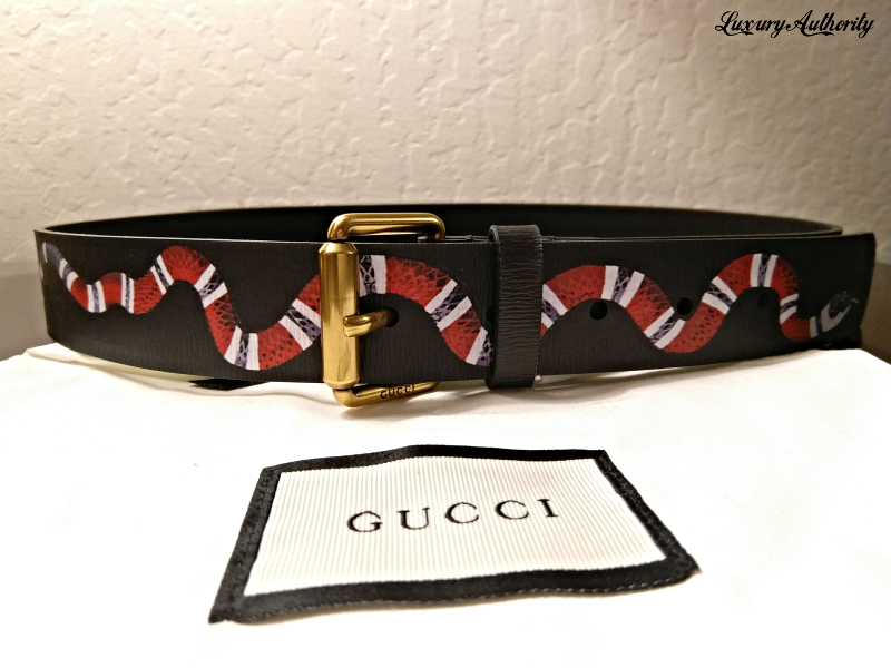 6f55538a1ac GUCCI Black King Snake Belt Men s Size and 50 similar items. Img 5218632560  1513495292