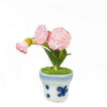 DOLLHOUSE MINIATURES CARNATION IN POT #G7807 - $9.50