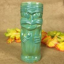 Tiki Mug Hawaiian Inn Daytona Beach FL Turquoise Knife Licker Cocktail - $29.65