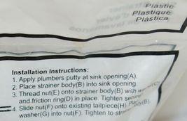 Orgill 1737782 Plastic Sink Strainer Stainless Steel Flange image 6