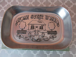 New Wilton Armetale Home Sweet Home Large Bread Plate Tray Platter - $21.66