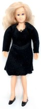 "Dollhouse Miniature 6"" Doll Town Square Mom Bendable Poseable Vintage 19... - $4.46"