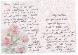 "JANET HUCKABEE AUTOGRAPHED HAND WRITTEN BIRTHDAY CARD ""RARE"" - $6.96"