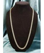 """Necklace 30"""" Rhinestone Gold Tone Vintage - $21.78"""