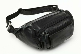Tiding Men's Genuine Leather Large Capacity Waist Bag Organizer Travel R... - $81.77+