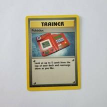 Pokemon Base Set 1999 Trainer Pokedex MP 87/102 TCG Card Game Unlimited - $1.49