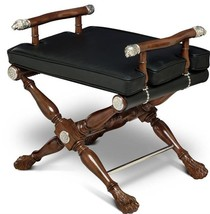 Director's Stool SCARBOROUGH HOUSE Rosettes Lion Heads - $2,329.00