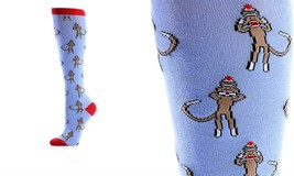 Yo Sox Women's Knee Sock - Monkey - Fits Size 6 - 10 - Blend of Cotton & Nylon