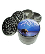 Scenic Alaska D1 Titanium Grinder 4 Piece Magnetic Hand Mueller Grizzly ... - $17.77