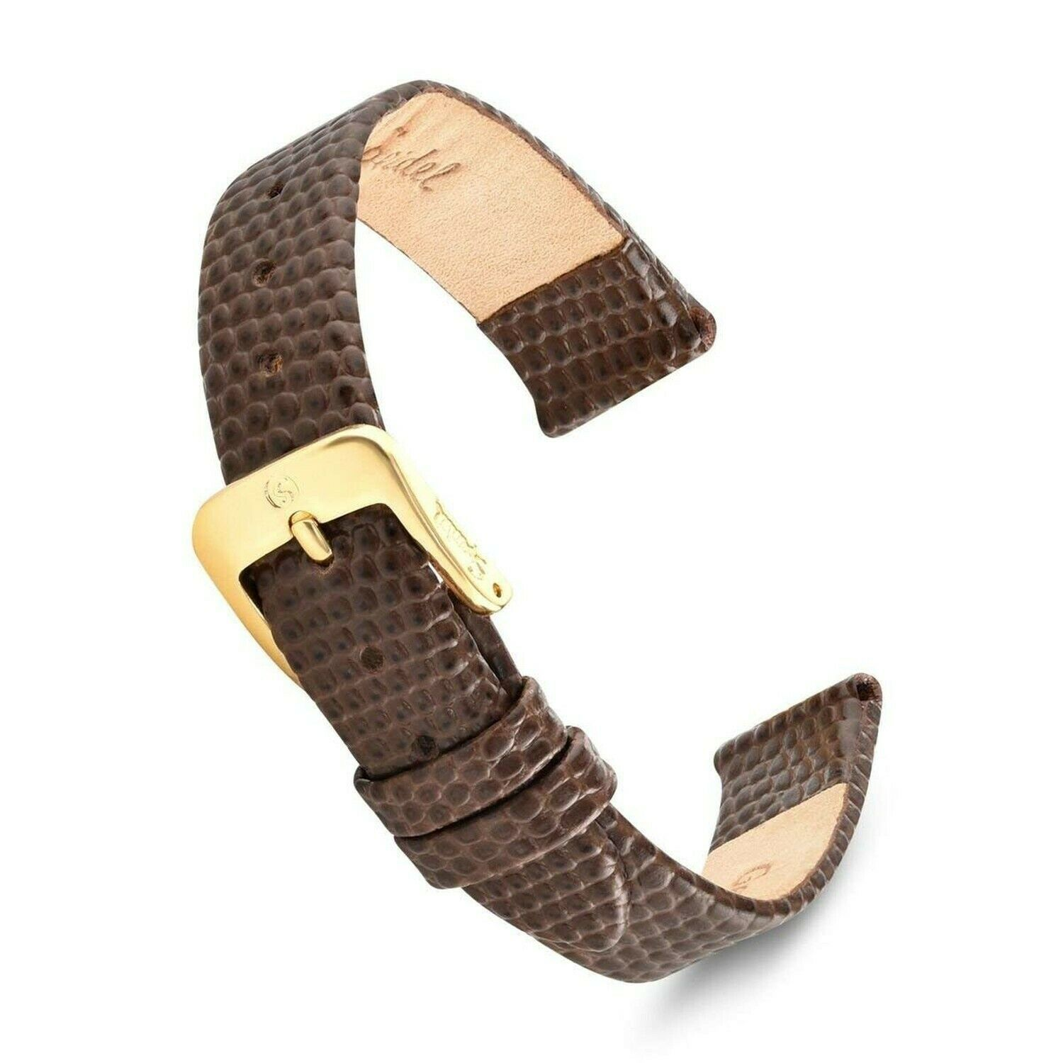 Primary image for Speidel Leather Lizard Grain Watch Band 8mm-20mm-Black,Brown, Red,W... SHIPSFREE
