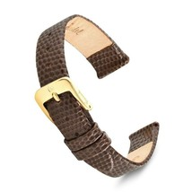 Speidel Leather Lizard Grain Watch Band 8mm-20mm-Black,Brown, Red,W... S... - $15.90
