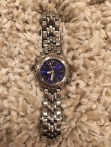 Fossil Womens Watch es-8872 Blue Face F13 - $19.99
