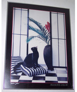"""Francine Zaslow  Untitled Titled """"The Black Cat"""" Litho Poster Board-Signed - $175.00"""