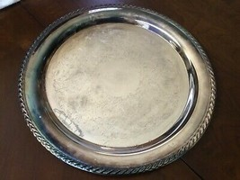 "VTG W.M. Rogers Silver Plated Serving Tray Detailed Etchings Hallmarked 15"" - $48.51"