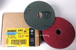 "Dewalt DARB6H0225 5"" x 7/8"" 24 Grit Metal/Stainless Finish Fiber Discs 2... - $24.75"