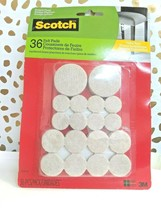 Scotch Felt Pads Value Pack Beige Assorted Sizes 36 Count (SP842-NA) sealed new! image 2