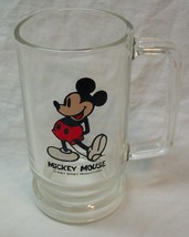 "Vintage Walt Disney Mickey Mouse 5"" Glass Cup Mug - $19.80"