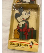 VNTG Disney MICKEY MOUSE Kurt Adler Wood Christmas Ornament **BRAND NEW ... - $21.99