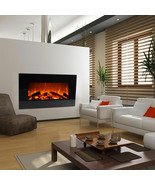 """33"""" Wall Mount Fireplace Electric Adjustable Heater Standing w/Tempered ... - $549.00"""