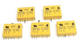 LOT OF 5 NEW CRYDOM IAC5 INPUT MODULES 120VAC