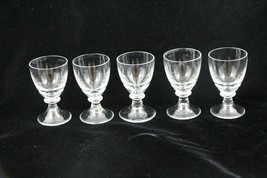 Shot Glasses Cordial Sherry Aperitif Stemmed Clear Set of 5 1 oz  - $19.80