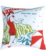 Pillow Decor - English Bay Bather Outdoor Throw Pillow - $79.95