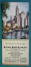 INK BLOTTER AD 1938 - Rivard Sales Co. Kansas City MO & New York Central... - $4.49