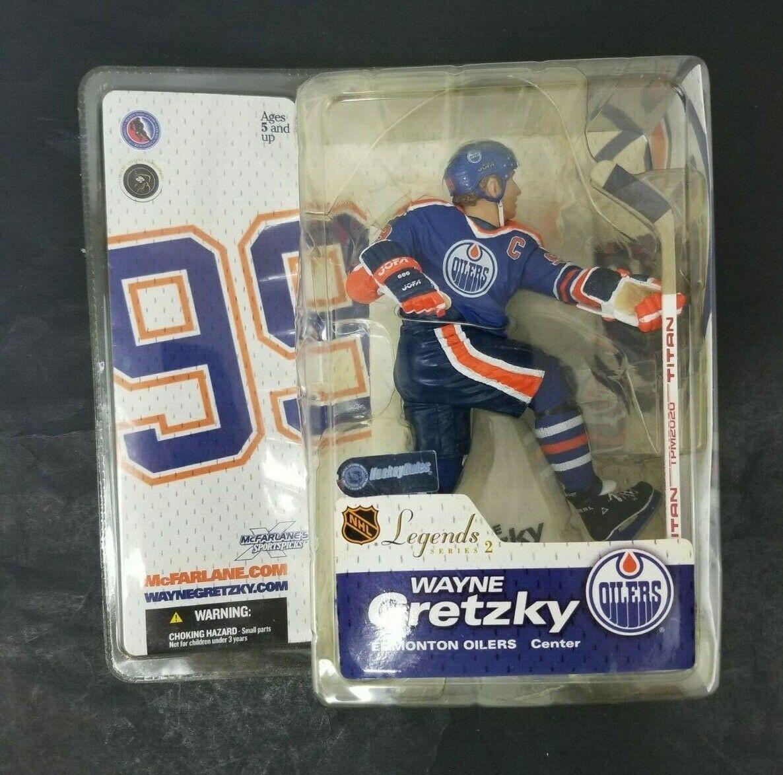 "Wayne Gretzky McFarlane Legends 12/"" Figure Edmonton Oilers White Jersey"