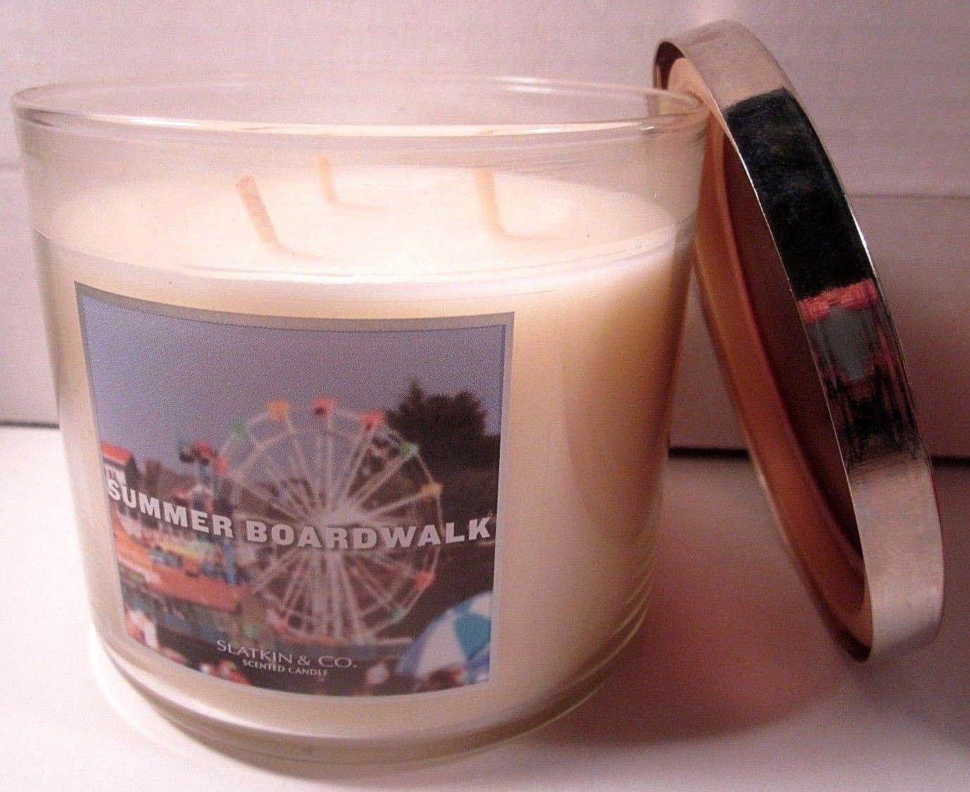 Bath & Body Works 3 wick 14.5 oz Candle Slatkin Summer Boardwalk