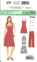 Simplicity 6789 New Look Easy Pattern Misses' Dress Top Skirt Pants Size 6-16 FF - $10.47