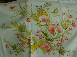 VTG SEARS GERARD CLEACH FLORAL PERCALE TWIN SHEET SET FITTED FLAT 2 PILL... - $18.99