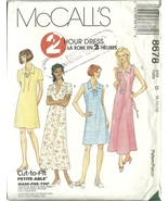 McCall's Sewing Pattern 8678 Misses Womens Dress Size 8 10 12 New Uncut - $9.99