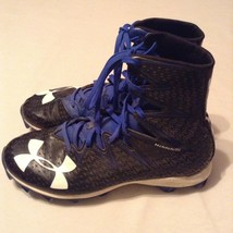 Football Highlight Under Armour cleats Size 9.5 shoes blue black athletic mens - $59.99