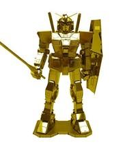 Metallic Nano Puzzle Premium Series Gold Gundam - $28.00