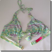 Victoria Secret Purple and Teal Underwire Bikini Top Swimwear 34C - $11.65