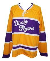 Any Name Number Nashville Dixie Flyers Retro Hockey Jersey New Yellow Any Size image 4