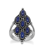 Ornate Sterling Silver Lapis Ring - $79.95