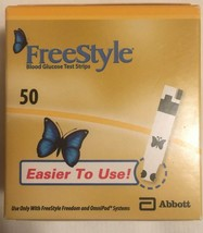 Freestyle Blood Glucose Test Strips 50 Exp.09-2019 - $19.99