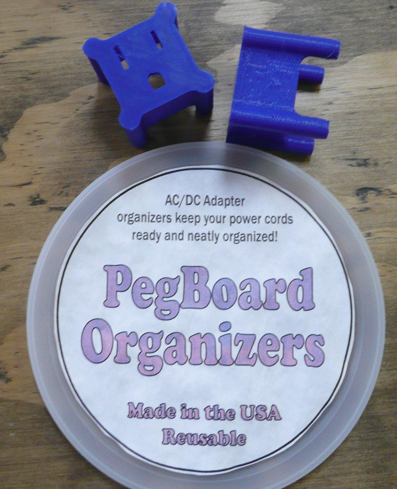20 Peg Board Plug Organizer Blue Custom Design Increased Strength