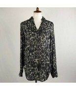 Women's Gray All Saints Animal Print Tunic Blouse XS sz XS - $71.53