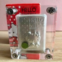 Hello Kitty ZIPPO 3D Metal Silver Limited Edition Rare With Acrylic Case Used Un - $267.29