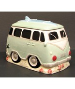 Surfer VW Van Ceramic Cookie Jar / Canister Kitchen Decor. Last one in S... - $39.59