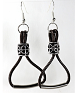 Handcrafted  Leather Earrings - £7.61 GBP