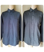 Van Heusen Pierre Cardin Herren Kleid Hemden 2 Grau Langärmlig GRÖSSE M ... - $39.47
