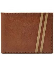 New Fossil Conway Flip Id Bifold Men Leather Wallet Cognac #ML3624222 - $38.11